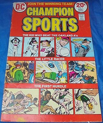 DC Comics Champion Sports #1 VG- Oct 1973 Oakland A's Little Racer First Hurdle