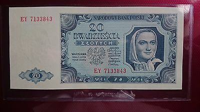 Poland 20 Zlotych 1948 UNC Uncirculated Banknote RARE