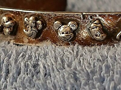 Disney, mickey mouse and Friends Sterling silver bracelet cuff