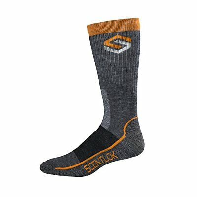 Scent-Lok Men's Merino Hiking Socks, Charcoal, Medium