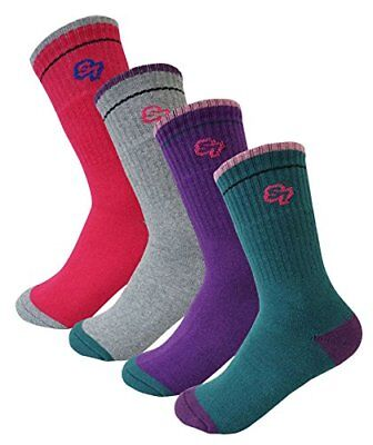 4Pack Women Full Cushion Hiking/Camping/Outdoor Crew Socks 4Pair...