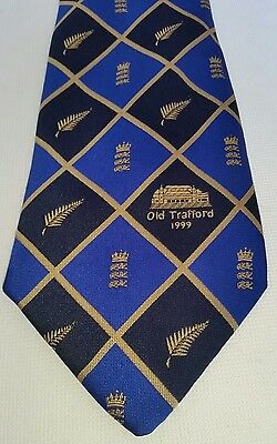 Cricket Tour Tie World Cup Old Trafford 1999 England vs New Zealand Black Caps