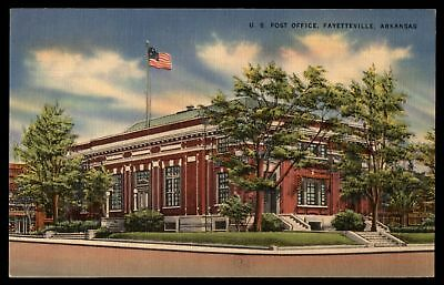 Mayfairstamps US POST OFFICE FAYETTEVILLE AR 1942 CORNER SIDE VIEW BY COLOURPICT