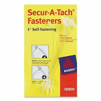 Avery Fasteners Nylon Clear 5 inches Pack of 1000 18800