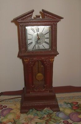 Vintage Electric Chippendale Miniature Grandfather Clock