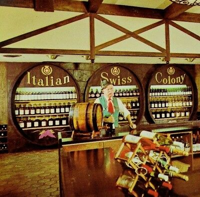 Vintage The Wine Shop at the Italian Swiss Colony Winery Postcard P47