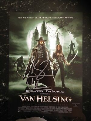 Hugh Jackman Signed Van Helsing Mini Movie Poster With Coa