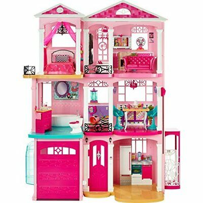 Barbie Doll Dream House 3 Story Pink Playset Vintage Girls Dollhouse Townhouse