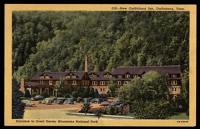 Mayfairstamps NEW GATLINBURG INN TN 1955 GREAT SMOKY MOUNTAINS NATIONAL PARK ENT
