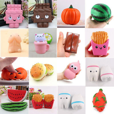 Lot of Jumbo Squishy Fruit Breads Toast Slow Rising Bread Cellphone Strap Charms