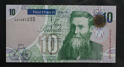 2008 Northern Ireland £10 Pounds EXTREMELY FINE !!!