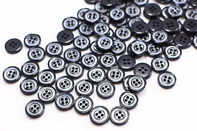 Z283 12mm 20L Small Black Ball Shank Twisted Rope Knot Pattern Sewing Button