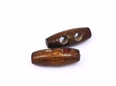 Small Dark Brown Wooden Toggles Button 25mm 50pcs