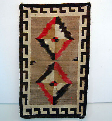 OLD Native American Child's Navajo Rug Southwest Saddle Blanket  EYE DAZZLER