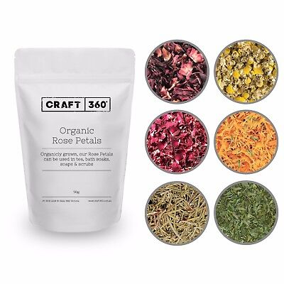 PREMIUM ORGANIC TEA HERBAL - Dried Petals Herb Drinking Soap Bath Bomb Confetti