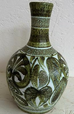 Denby Stoneware Glyn Colledge 20.5 cm Rounded Vase Abstract Green Leaves