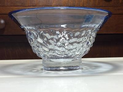 Amici blue art glass bowl