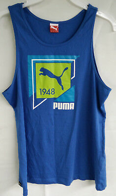 Puma Men's Sleeveless Puma Spell Out Muscle Tank Top Size XXL