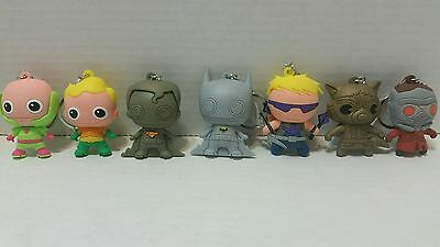 Marvel and DC Comics Keychain Lot of 7