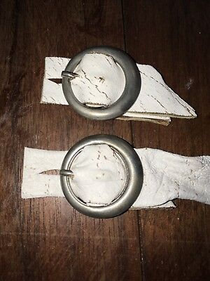 2 Small Silver Round Buckles