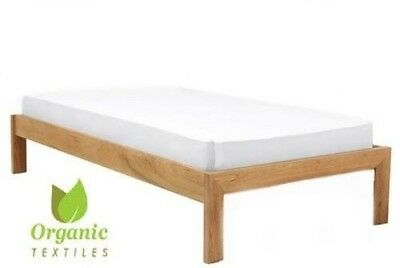 100% Organic Cotton Baby Crib Fitted Sheet - White Color   Organic Textiles