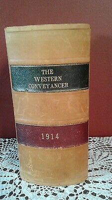 THE WESTERN CONVEYANCER 1914 Leather Bound Hard Cover