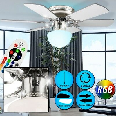 7,5 Watt RGB LED Ceiling Fan Color Change Light Room Ventilator Cooler Dimmable