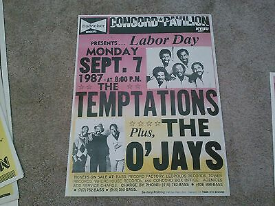The Temptations The Ojays  Boxing Style   Concert Poster