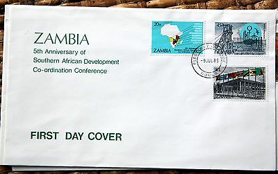 Zambia 1985 first day cover (ref k3867)