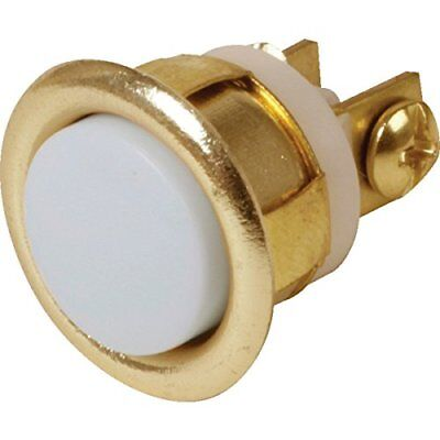 Everyday Door Bell Chime Push Button Lighted Size 2.5 Inch Round Brass Finish