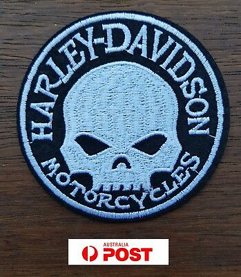 Harley Biker Motorcycle Vest Embroidered Patches Applique Badge Iron Sew On