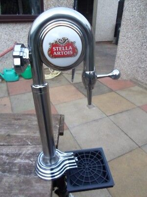 stella beer pump with drip tray/frame &lights up (see details)