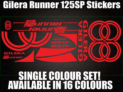 Gilera Runner 125sp Decals/Stickers-ALL COLOURS AVAILABLE- 172 183 GILLY