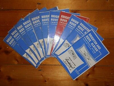1961-62 BRIGHTON & HOVE ALBION Home Programmes - Your choice - FREE Postage