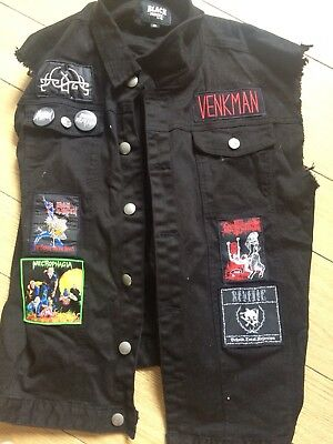 Battle Vest Sleeveless With Patches Revenge Necrophagia