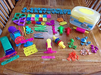 Dough Modelling Carry Case, Fun Factory, Cutters, Mounds, Tools, Letters & More!