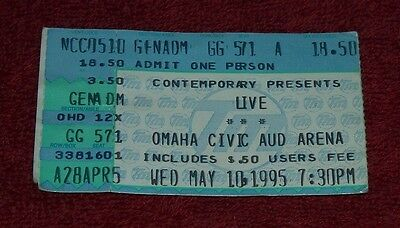 LIVE Ticket Stub Omaha NE May 10 1995 RARE Ticketmaster Gen. Adm.