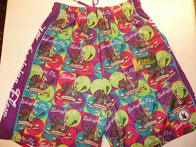 NWT Flow Society Youth Small Purple Turkey Lacrosse Shorts PA39MP208 NEW