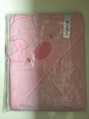 2 Baby girls ladybird bear Hooded Towels