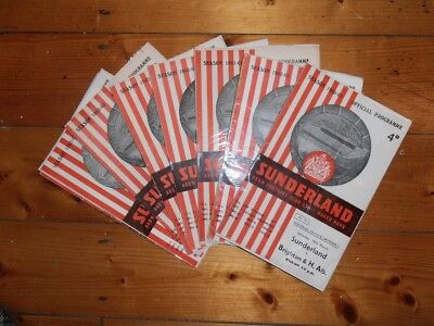 1960-63 SUNDERLAND HOME FOOTBALL PROGRAMMES - Your Choice - FREE Postage