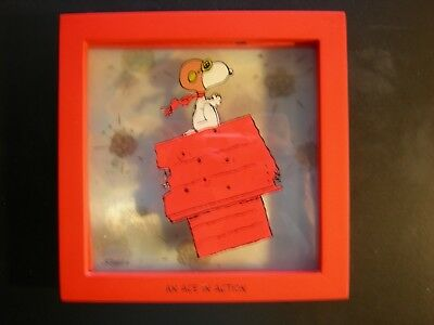 """Hallmark Snoopy and Peanuts Limited Ed. Shadow Box-""""An Ace In Action"""""""