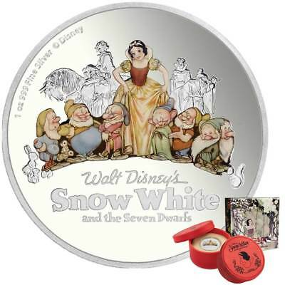 2017 Snow White and the Seven Dwarfs 1oz Proof Silver Coin