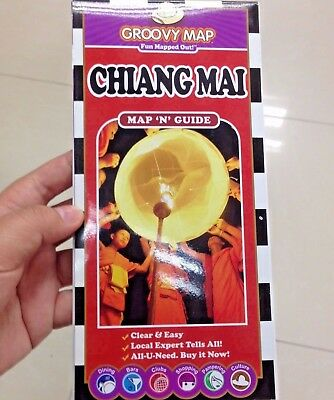 The Guide Map n book Chiang Mai map of Thailand and travel new English Vintage