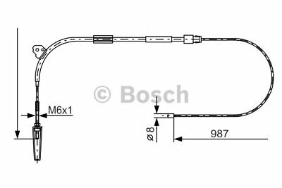 Cable, parking brake for MERCEDES-BENZ A-CLASS