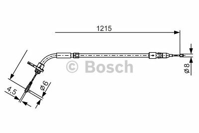 Cable, parking brake for MERCEDES-BENZ A-CLASS/B-CLASS