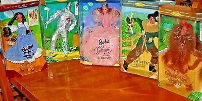 Wizard of Oz Barbie Doll Collection of 5 Dolls-New-NRFB_Dorothy Box Damaged