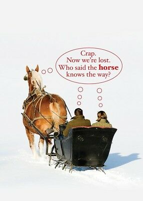 We Are Lost Belgian Horse Christmas Cards