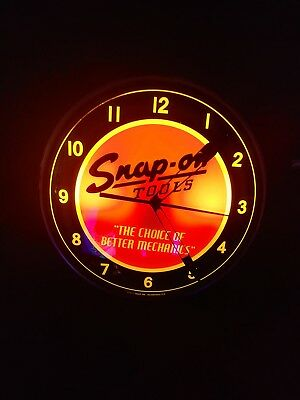 "Snap-On Collectible Vintage Light Up Clock SSX16P103K - *NEW* 15"" Diameter"