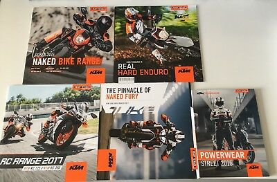 5 x KTM 2016 And 2017 Catalogues. Nearly New Condition!