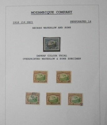 Mozambique Company - 1918 issue, 49 stamps mint & used plus imperf colour trial